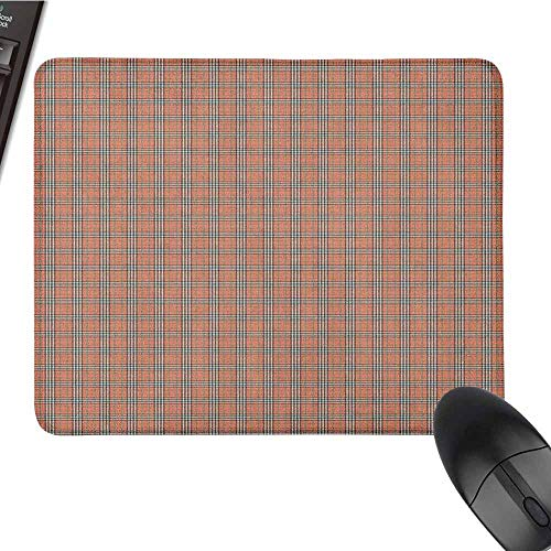 Plaid Patterned Mouse pad Geometrical Tartan Pattern from Irish and Scottish Cultures Stripes Checks Easy to Clean and Maintain W12 x L27.5 x H0.8 Inch Salmon Green Brown