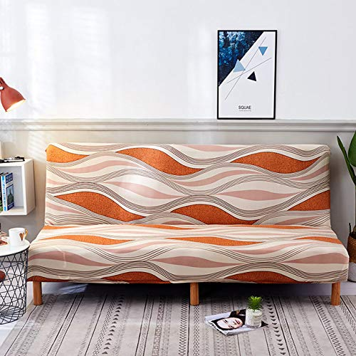 WEDZB Sofa hoes,All-inclusive sofa hoes bloemen zonder armleuning slaapbank hoes strakke wrap elastische beschermer hoes bank hoes, K294,185,215cm