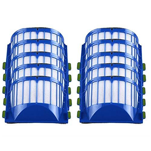 L-Yune, 10pcs Filtro de HEPA for Roomba Serie 600 610 620 625 630 650 660 Filtros Accesorios for aspiradoras