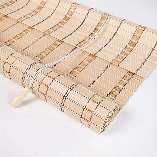 LJA Outdoor Naturholz-Effekt-Jalousien-Bambusvorhang, Retro Balkon-Lichtschutz-Vorhang-staubdichtes Breathable Rollo (Size : W 120*H 160cm)