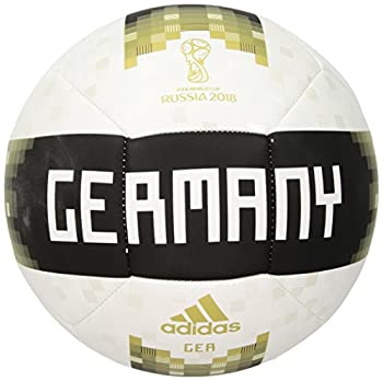 World Cup Soccer Germany Adult Adidas Official Licensed Product Germany Ball 5 White/ Bright Yellow/ Green