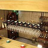 AERVEAL Soporte para Copas de Vino Tinto, Organizador Ajustable de Botellas Y Copas de Alenamiento Estantería para Tubos Estantes Colgantes para Vasos Restaurante Café Organización de Cocina Y Alenam