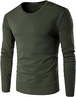 GAGA Men's Basic Long Sleeve Crew Neck T-Shirt Plain T-Shirt Tee