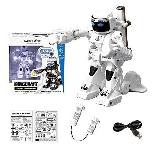 Cumpleaños 2.4G Control Remoto del Robot De Control Remoto del Robot Somatosensoriales Doble Deportes Modelo De Niños White