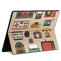 igsticker Surface Pro X 専用スキンシール サーフェス プロ エックス ノートブック ノートパソコン カバー ケース フィルム ステッカー アクセサリー 保護 010186 ラジオ ステレオ 緑