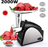 Best meat grinders - Electric Meat Grinder, Upgraded 2000W Stainless Steel Food Review