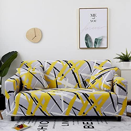 WXQY La Funda de sofá elástica Envuelve la Funda de sofá Antideslizante con Todo Incluido, Utilizada para el sofá Modular de la Sala de Estar, Funda de sofá de Toalla A11 1 Plaza