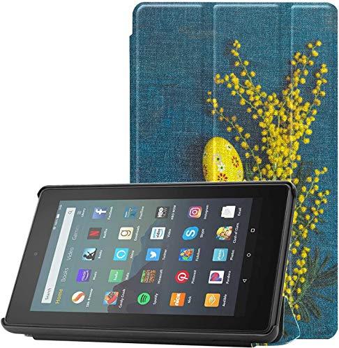 Funda para Tableta Fire de 7 Pulgadas Mimberry Twigs en un Estuche de Vidrio Fire 7 2019 para Tableta Fire 7(novena generación,Lanzamiento de 2019),Liviana con Reposo automático/activación