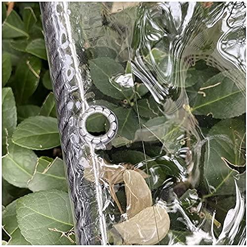 N\A LIJINBO Lonas Impermeables Exterior,Lona Transparente, Cubierta De Lona Impermeable De PVC Resistente A La Intemperie, para Pared Lateral De Gazebo De Jardín Al Aire Libre con Ojales, 59 Tamaños