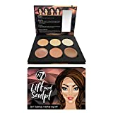 W7 | Lift & Sculpt Cream Contour Palette | 6 Professional And Long-Lasting Cream Formulas | Multiple Shades For Color Matching And Defining | Contour, Bronzer And Highlight Shades
