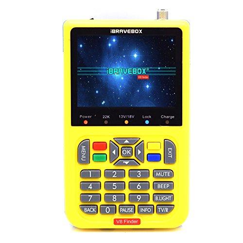 Satellite Detector,KKnoon DVB-S2 V8 Finder Digital Satellite Finder With 3.5 inch LCD Digital Display