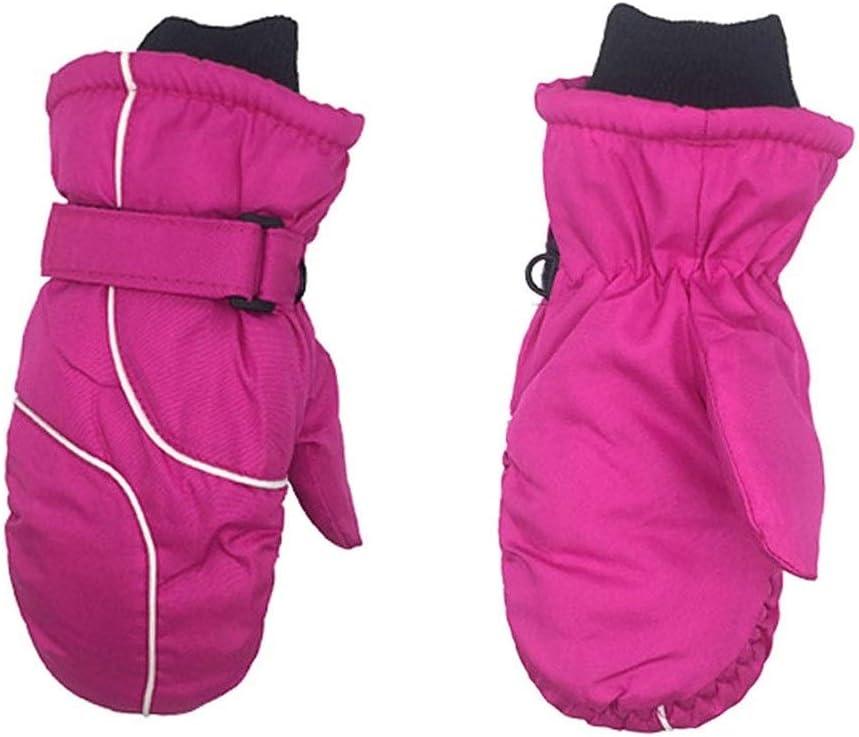 Lupovin-Keep Warm Girls Winter ski Gloves Boys Warm Winter Gloves Outdoor Waterproof Gloves 1 Pair of Cute Children Kids Warm ski Gloves Winter Boys and Girls Warm Knitted Gloves Non-Slip