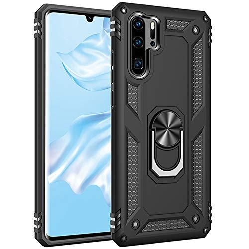 AFARER Hülle Kompatibel Mit Huawei P30 Pro/Huawei P30 Pro New Edition/Huawei P30 Pro 2020 Militärische Handyhülle Schwarz