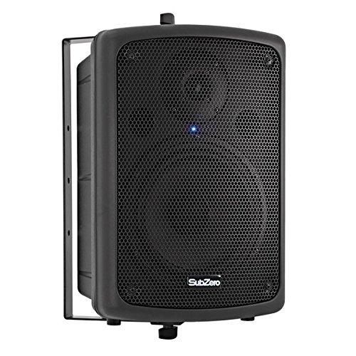 """SubZero 80W 8"""" Active PA Speaker with Yoke Bracket"""