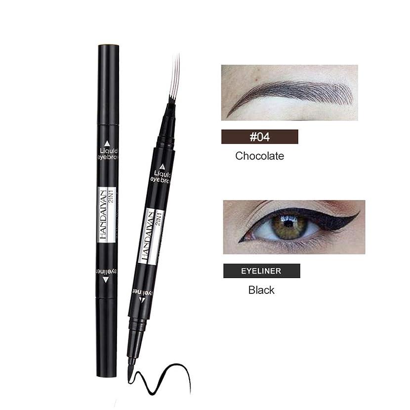 佐賀科学的端末眉毛の入れ墨のペンの防水フォークの先端のスケッチの化粧ペンのMicrobladingインクスケッチ