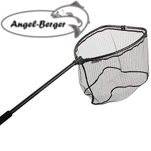 Angel-Berger Raubfischkescher Faltbar gummiert Big Fish Net Kescher Bootskescher Angelkescher (L / 60x50cm)