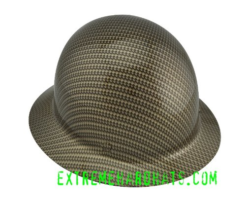 Check Price Gold Carbon Fiber Rope MSA SKULLGARD Hard Hat w
