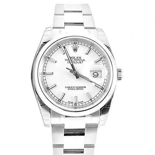 Rolex Datejust 36 White Index Dial Steel Oyster Watch 116200