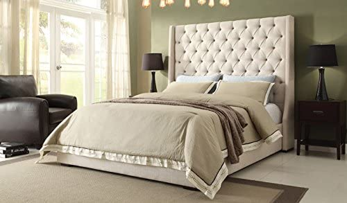 Best Diamond Sofa Contemporary Park Avenue Low Profile Bed (East. King: 87 in. L x 89 in. W x 69 in. H)