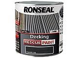 Ronseal DRPCH25L 2.5 Litre Decking Rescue Paint - Charcoal