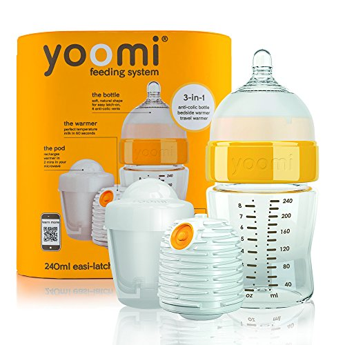 Yoomi Y18B1W1P Babyflasche, 3 in 1 Set, 240 ml gelb