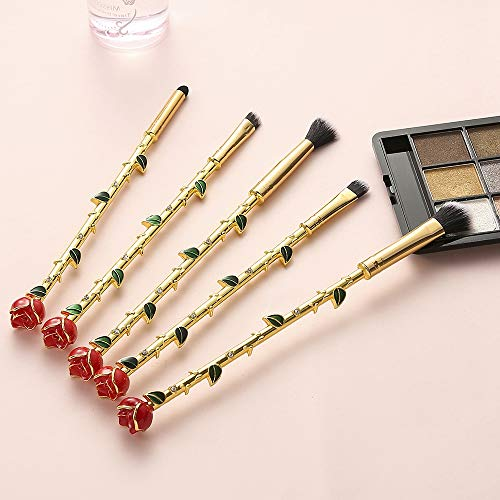 ZYC Bête Rose Professionnel pinceaux de Maquillage Ensemble beauté Pinceau cosmétique Fard à paupières Contour correcteur Haute qualité ombrage Pinceau Eyeliner,Gold