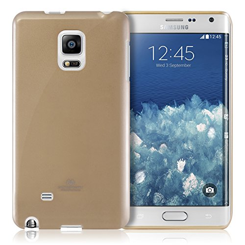 Goospery Pearl Jelly for Samsung Galaxy Note Edge Case (2014) Slim Thin Rubber Case (Gold) NT4E-JEL-GLD