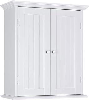 ChooChoo Bathroom Wall Cabinet, Over The Toilet Space Saver Storage Cabinet, Medicine Cabinet with 2 Door a...
