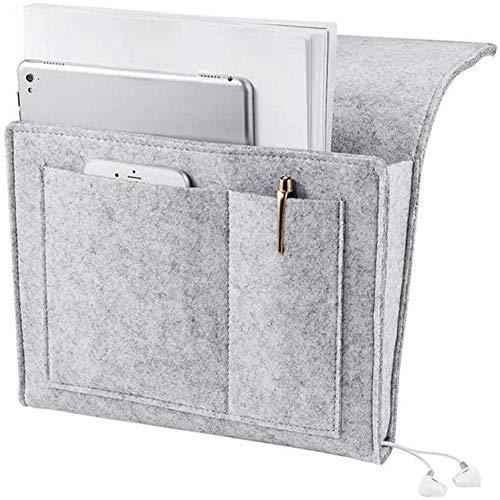 Bolsa de almacenamiento de fieltro para colgar junto a la cama, antideslizante, revista de clasificación, tableta, teléfono, auriculares, colchón de cama y sofá para