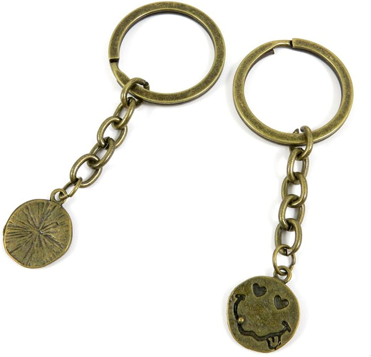 100 PCS Keyrings Keychains Key Ring Chains Tags Jewelry Findings Clasps Buckles Supplies S3XN4 Grimace