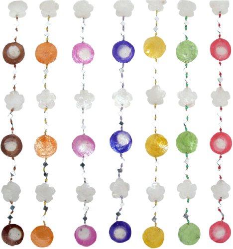 Guru-Shop Muschel & Spiegelkette Mobile, Gelb, Farbe: Gelb, Traumfänger, Mobiles