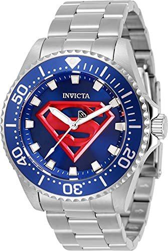Invicta Men's 32380 DC Comics Quartz 3 Hand Blue Dial Watch