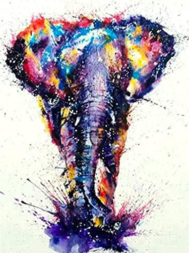 HJHJHJ 1000 Rompecabezas de Madera de Elefante Colorido, Rompecabezas de 1000 Piezas de 75x50cm