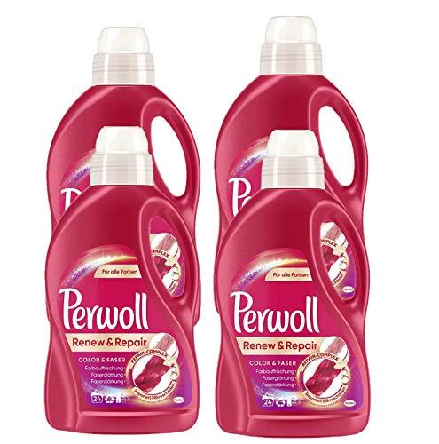 Perwoll Renew & Repair Color & Faser, Feinwaschmittel, Waschmittel 96 (4 x 24) Waschladungen