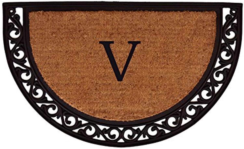 Home & More 100101830V Ornate Scroll Monogram Doormat 18-Inch X 30-Inch (Letter V)