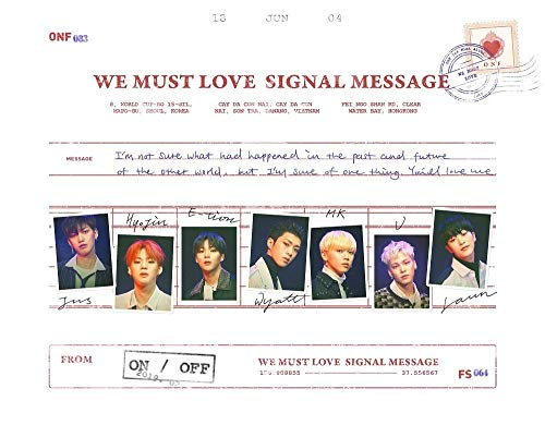 WM Entertainment ONF - WE Must Love (3rd Mini Album) CD+60p Photobook+1Photocard+1Postcard+1Unit Photo+1Group Photo