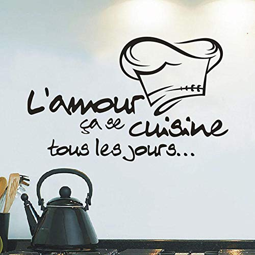cooldeerydm Home Keuken Letter Muursticker Keuken Sticker Vinyl Decal Keuken Tegel Chef Muurdecoratie Hot Verkoop Muurdecoratie Stickers@Black_China