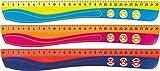 Maped - stossfestes Lineal KIDY'GRIP 30 cm, aus recyceltem Plastik, mit Anti-Rutsch-Noppen - türkis-grün, pink-orange, blau-rot