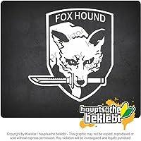 フォックスハウンド Fox Hound 11cm x 10cm 15色 - ネオン+クロム! ステッカービニールオートバイ