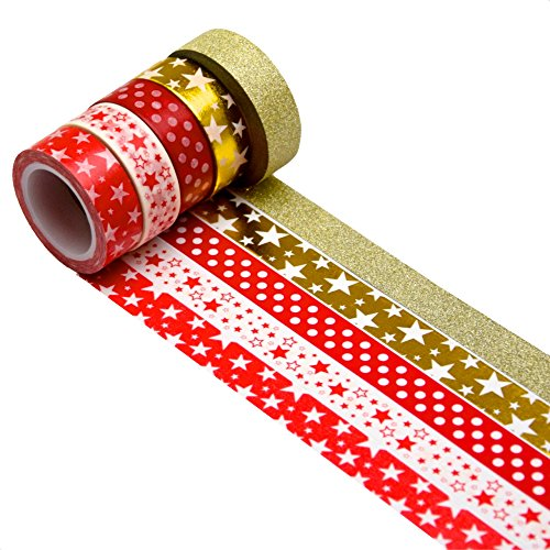 k-limit 5 Set Washi Tape Rotoli di Nastro Adesivo Masking Tape Scrapbooking DIY Natale 9780