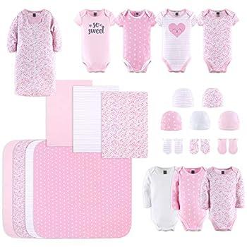 The Peanutshell Newborn Layette Gift Set for Baby Girls   23 Piece Newborn Girl Clothes & Accessories Set   Fits Newborn to 3 Months   Floral