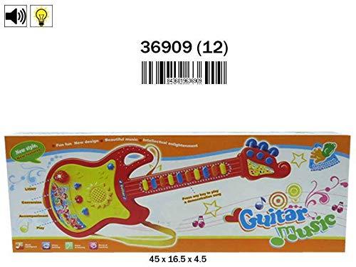 Rama Tritton 36909 gitaar, 45 cm, met microfoon, licht en geluid, meerkleurig