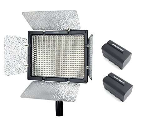 Yongnuo YN-600L II YN600L II LED Video Light 3200K - 5500K per Canon Nikon DSLR DV e videocamera con 2PCS WINGONEER NP-F770 batteria e caricabatteria
