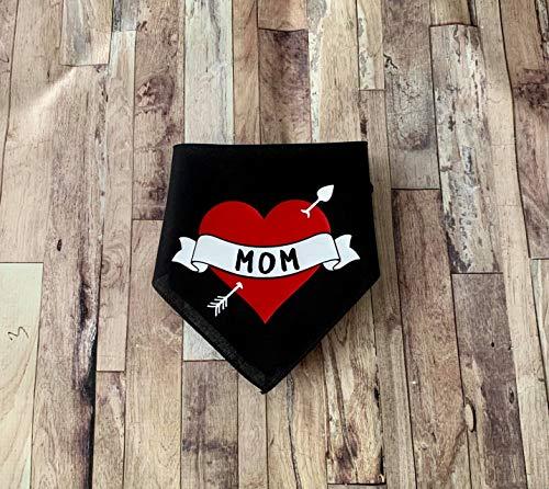 Mom Heart Arrow Tattoo Valentine Dog Bandana