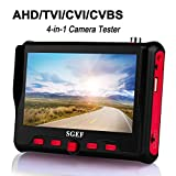 SGEF Wrist CCTV Tester, HD 8MP Portable Camera Tester AHD TVI CVI CVBS Tester UTC OSD Control 4.3 Inch TFT LCD Monitor Analog Video Test Cable Test PTZ Control 12V Power Output(6300ACT)