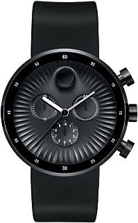 Movado 3680146 Movado Edge Silicone Chronograph Mens Watch44; Black