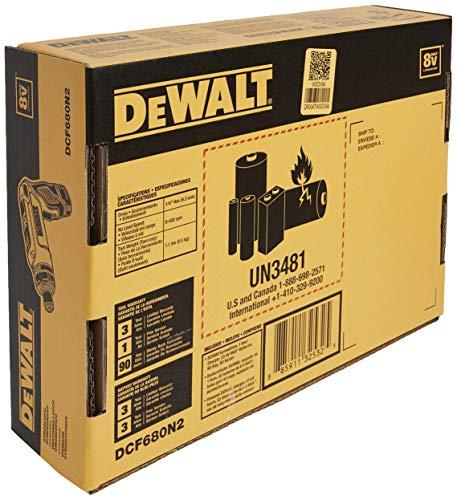 DEWALT 8V MAX Cordless Screwdriver Kit, Gyroscopic, 2 Batteries (DCF680N2)