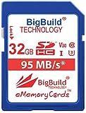 BigBuild Technology Tarjeta de memoria UHS-I U3 de 32 GB para Canon IXUS series incluyendo 160/162/165/170/175/177/180/185/190/285 HS y más cámaras