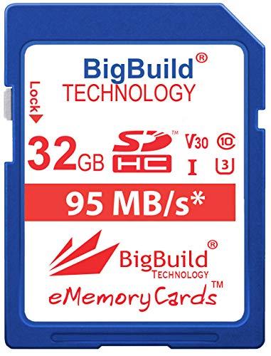 BigBuild Technology Tarjeta de memoria UHS-I U3 de 32 GB de 95...