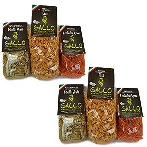 Pasta de leguminosas - 6 paquetes - Garbanzos, guisantes, lentejas rojas 2 cada uno - 250 gramos cada uno